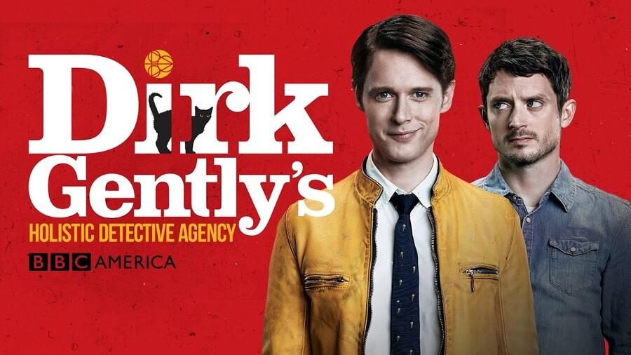 Bannière de l a série Dirk Gently.