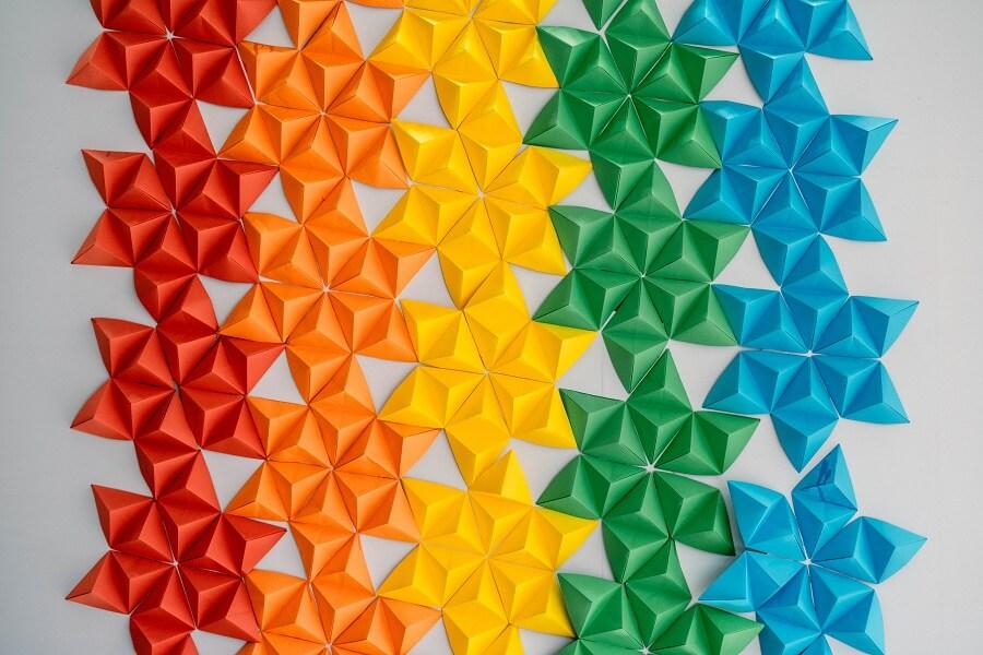 Motif géométrique en origami
