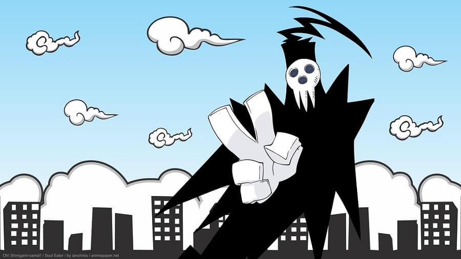 Bannière Shinigami dans Soul Eater.