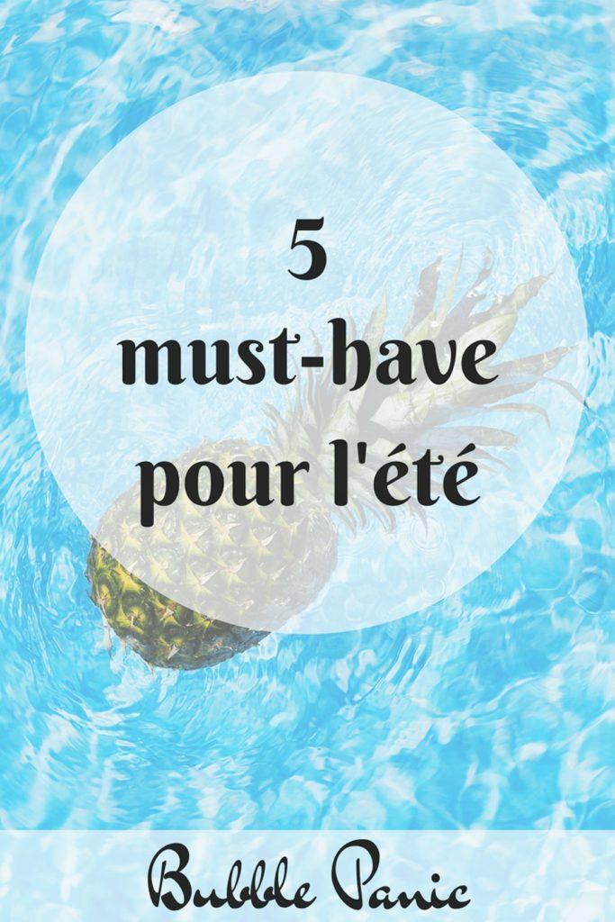 Affiche Pinterest de mes indispensables pour l'été
