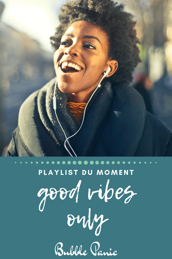 Bannière Pinterest playlist good vibes only.